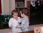 Zachary and Samantha enjoyed each other very much.  I just missed the moment when Zachary gave Samantha a kiss.