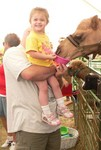 We visited the Pierce County fair a few days before Samantha's third birthday.  She was quite taken with the camel!