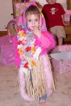 Aunt Mamie got Samantha a HUGE array of dress-up clothes for her birthday.  Samantha was going with a Russian/Carribean fusion theme.