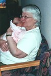 Great Grandma Jeanne visits Samantha on her second day in the world.
