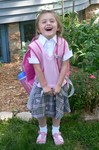 Hooray!  I'm so excited to be going to school, especially now that I'll be one of the BIG KIDS!