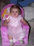 Where else should a princess sit but upon a Disney princess chair?