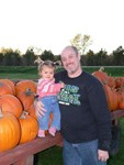 Daddy and Sammi had a great time picking out pumpkins